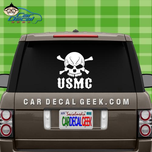 Marines Skull Car Window Decal Sticker