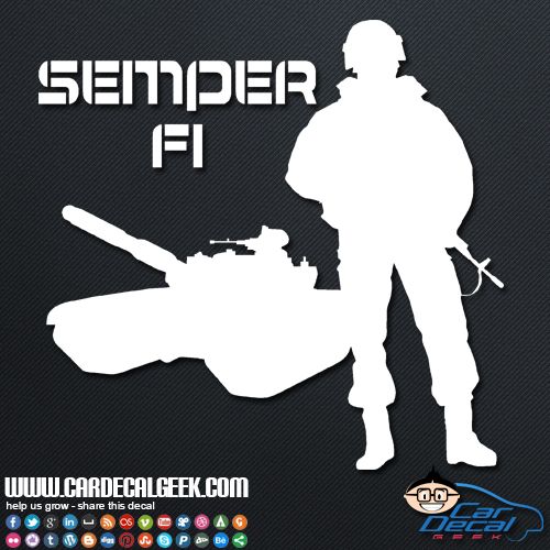 Soldier Marine Car Sticker