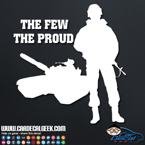 Marines The Few The Proud Sticker