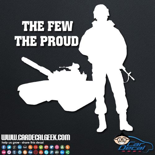 Marines The Few The Proud Sticker