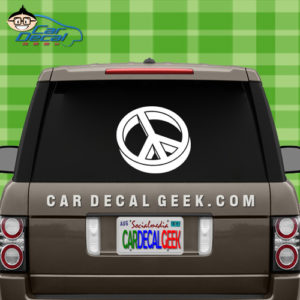 3D Peace Sign Car Window Decal Sticker