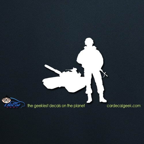 Soldier and Tank Car Decal