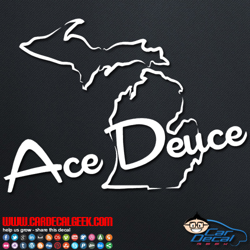 Ace Deuce Car Window Sticker