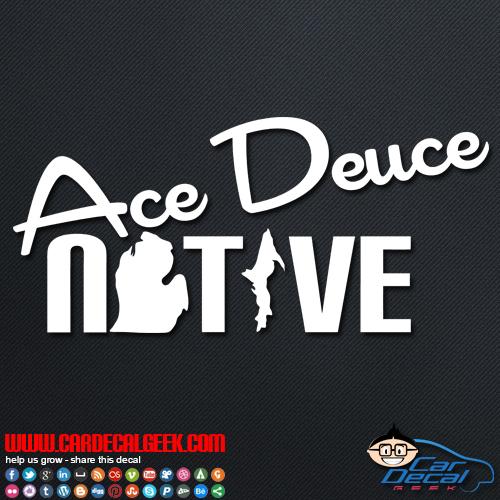 Ace Deuce Native Car Sticker