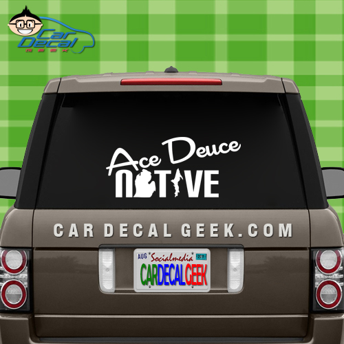 Ace Deuce Native Vinyl Car Decal Sticker