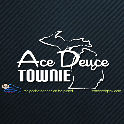 Ace Deuce Townie Car Decal