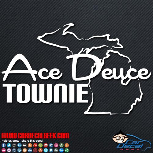 Ace Deuce Townie Car Sticker
