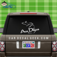 Ace Deuce Car Window Vinyl Decal