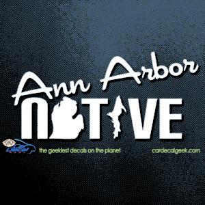 Ann Arbor Native Car Decal