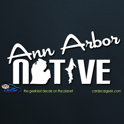 Ann Arbor Native Car Decal