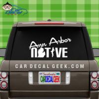 Ann Arbor Native Vinyl Car Window Decal Sticker