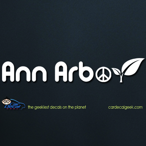 Ann Arbor Peace Leaf Car Decal