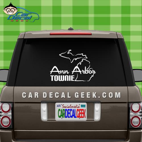Ann Arbor Townie Car Window Decal