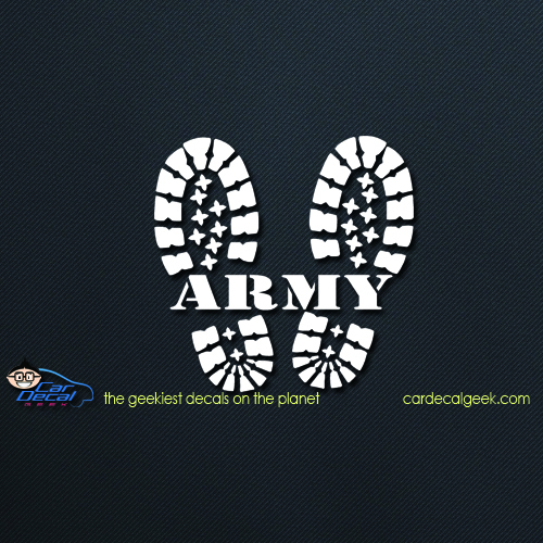 Army Combat Boots Car Decal