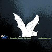 Flying Bat Car Decal