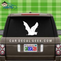 Flying Bat Car Window Decal Sticker
