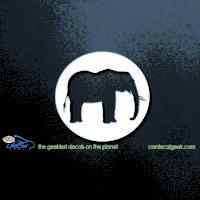 Elephant Slhouette Car Decal