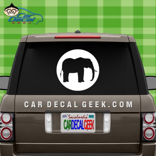 Elephant slhouette car decal elephant slhouette car window decal sticker