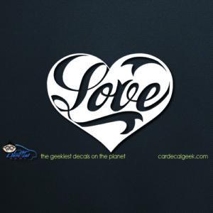 Love Heart Decal