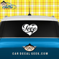 Heart Love Car Window Decal Sticker