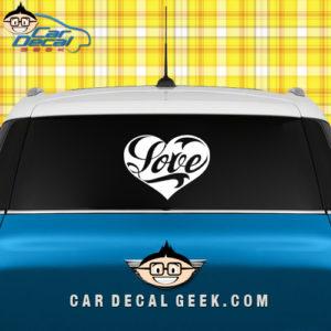 Heart Love Car Window Decal Sticker
