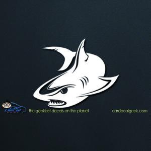 Mean Shark Car Decal