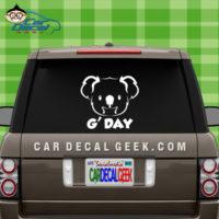 Koala Bear G'Day Vinyl Car Decal Sticker