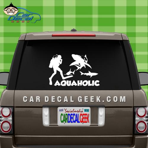 Aquaholic Scuba Car Window Decal