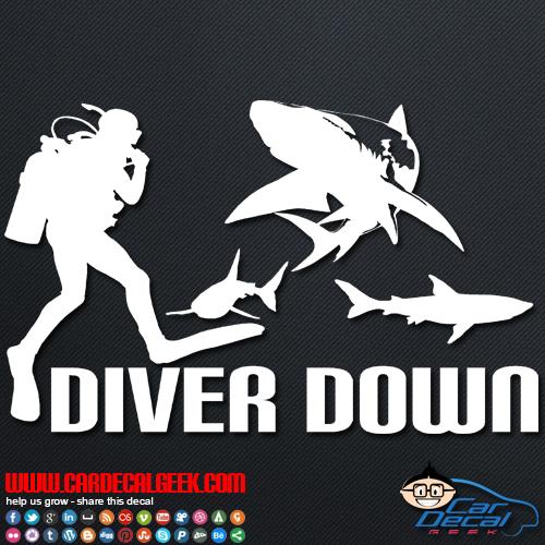 Diver Down Car Sticker
