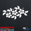 Three Tropical Hibiscus Flowers Car Decal