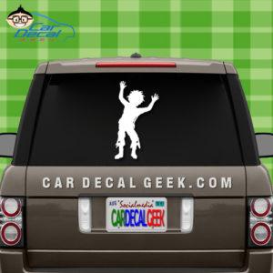 Zombie Boy Car Window Decal Sticker