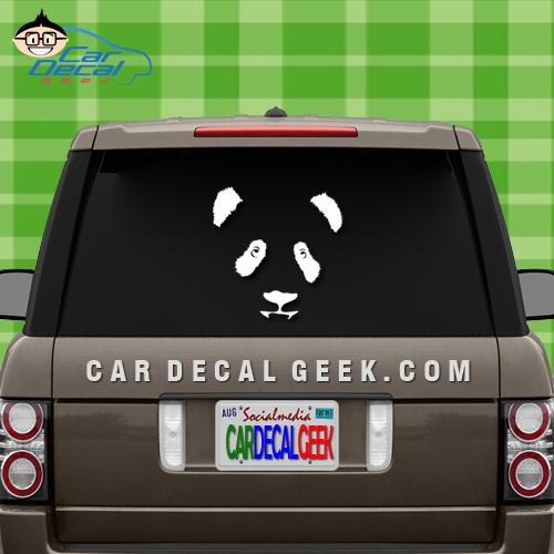 Adorable Panda Face Car Window Decal