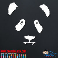 Adorable Panda Face Decal