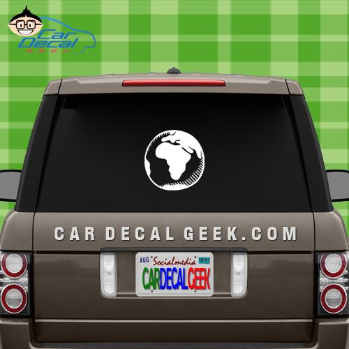 Africa Globe Car Window Decal Sticker