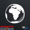 Africa Globe Decal