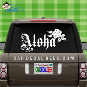 Aloha Flower Sticker