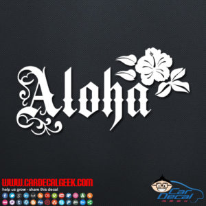 Aloha Flower Decal