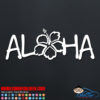 Aloha Hibiscus Flower Car Window Decal