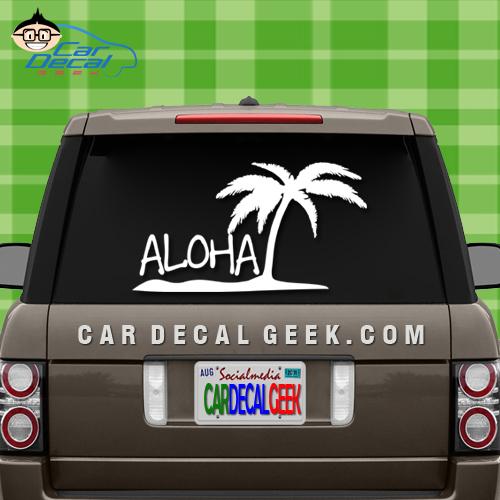 Aloha Island Car Decal Sticker
