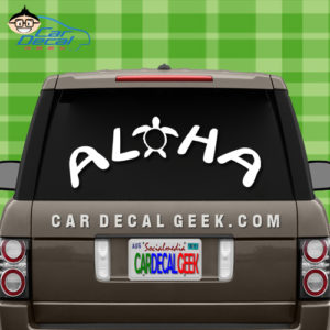 Aloha Sea Turtle Car Window  Decal Sticker
