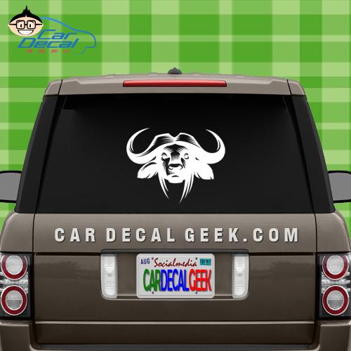 Buffalo Head Car Window Decal
