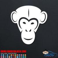 Chimpanzee Face Decal