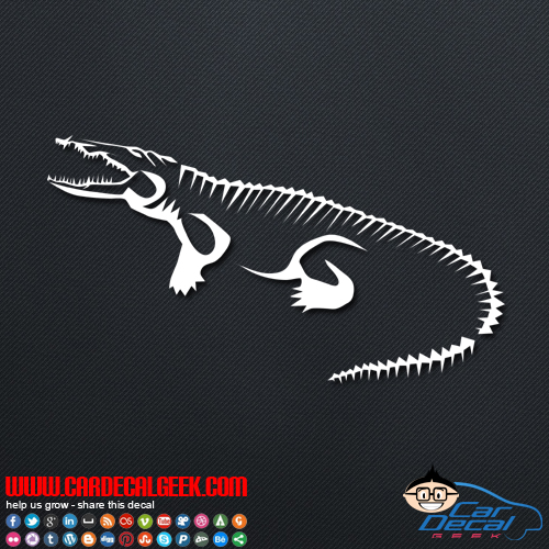 Alligator Crocodile Car Decal
