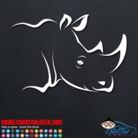 Cool Rhino Head Decal