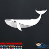 Cool Whale Car Sticker