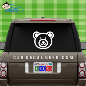 Cute Bear Face Car Decal Sticker