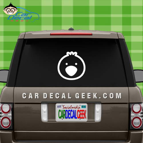Cute Bird Face Car Decal