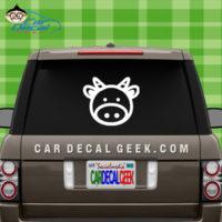 Cute Cow Car Window Decal Sticker