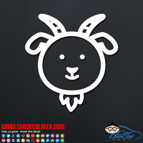 Cute Goat Decal