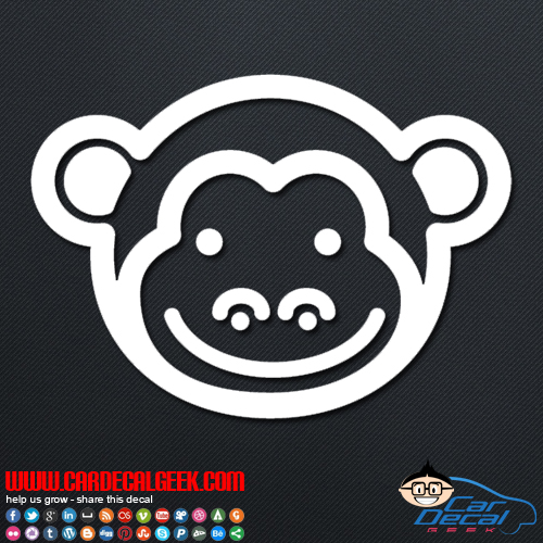 Cute Monkey Face Decal
